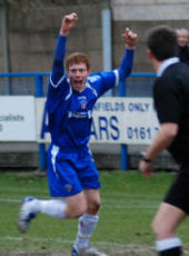 Andy Smart celebrates the penalty